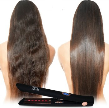 results after using infrared hair straightener